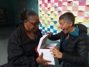 Women receiving Grant Award